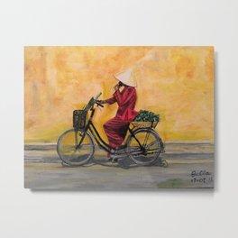 Hanoi cyclist Metal Print