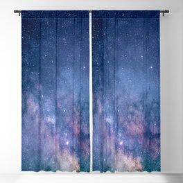 purple blue universe night sky stars galaxy Blackout Curtain