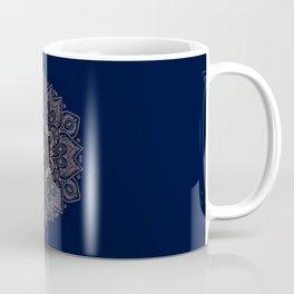 Temptation - Mandala 1 on Blue Backgound  Coffee Mug