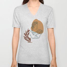 Apollo Line Art Unisex V-Neck