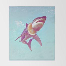 Lemon Shark Throw Blanket