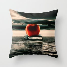 der rote Apfel Throw Pillow