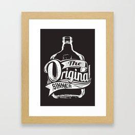The original sinner Framed Art Print
