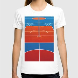 The Court in Red and Blue (Color) T-shirt