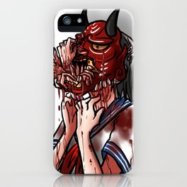 Get Out - Oni Masked School Girl iPhone Case
