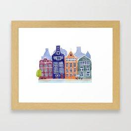 Watercolor Amsterdam Framed Art Print