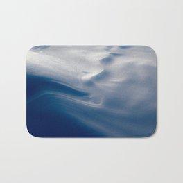 Snow Art - Blue Bath Mat