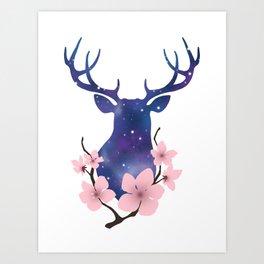 Blossom Deer Art Print