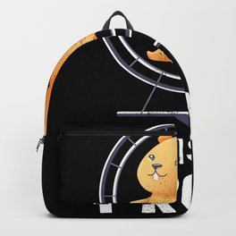 "Funny Hamster Gift ""This is how I roll"" Backpack"