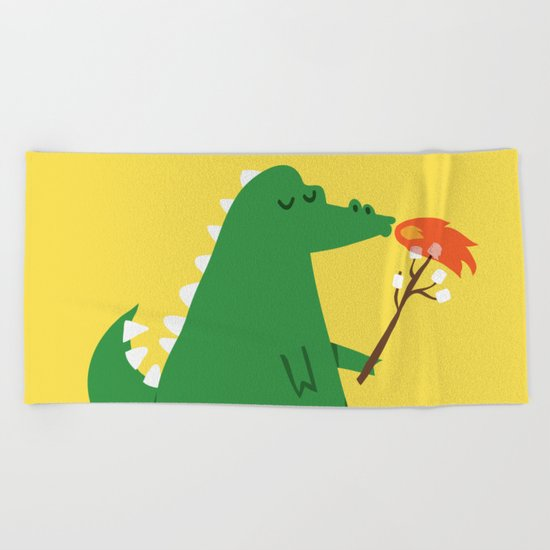 Dragon and Marshmallow Beach Towel
