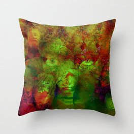 The clairvoyant of Harlem Throw Pillow