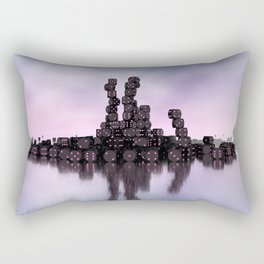 it's not Domino-day today Rectangular Pillow