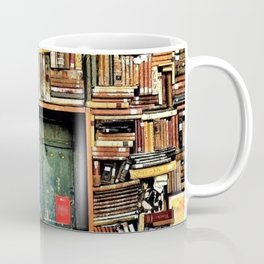 Library with books door entrance Coffee Mug