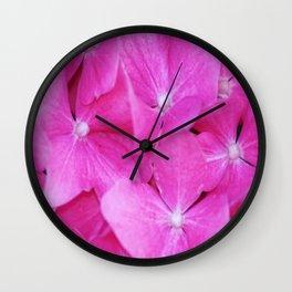 Pink Hydrangea flowers Wall Clock