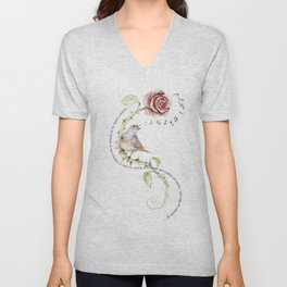 The nightgale and the rose Unisex V-Neck