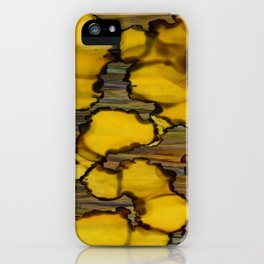 drops of yellow iPhone Case