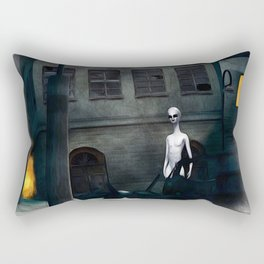 Alien in Our Midst Rectangular Pillow