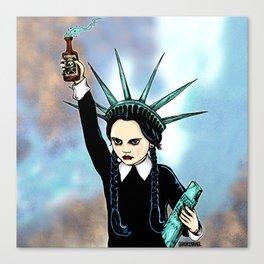Wednesday Liberty Canvas Print