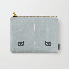 Mid Century Cats and Starburst Pattern Carry-All Pouch