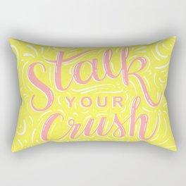stalk your crush (yellow and pink) Rectangular Pillow