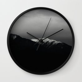 Don't stop / mountain photo art print / mountain poster Wall Clock