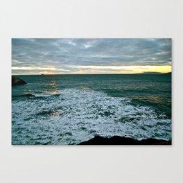 Last Ocean Glow Canvas Print