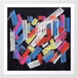 Multicolor construct Art Print