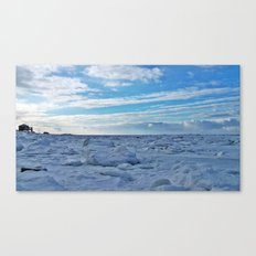 House by the Frozen Sea Canvas Print
