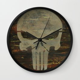 Apocalyptic Punisher painting Wall Clock