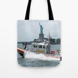 Coast Guard and Liberty Tote Bag