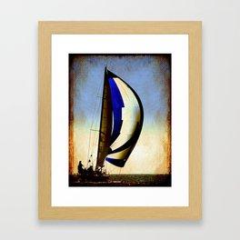sailboat sailing at the race Framed Art Print