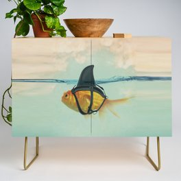 Brilliant DISGUISE - Goldfish with a Shark Fin Credenza
