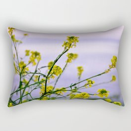 Spring is yellow Rectangular Pillow