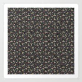 Christmas Mistletoe On Black Decor Art Print
