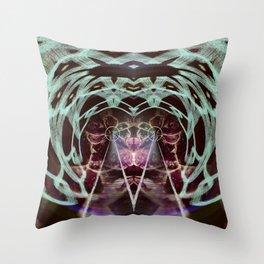 Electric World Throw Pillow