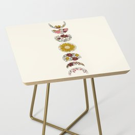 Floral Phases of the Moon Side Table