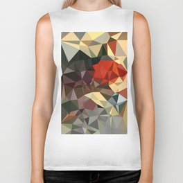 Sound Advice Abstract Art - Low Poly Triangles Biker Tank
