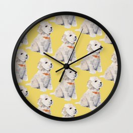 Cockapoo Pups Wall Clock
