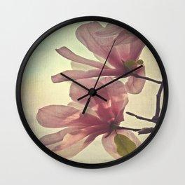 Magnolia Petals Wall Clock