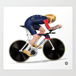 Bradley Wiggins | Hour record Art Print