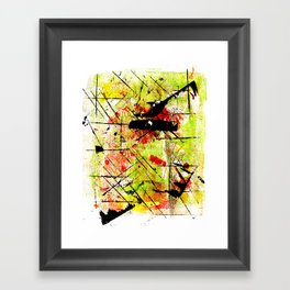 In The Falling Rain Framed Art Print