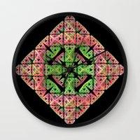 diamond Wall Clocks featuring Diamond by Lyle Hatch