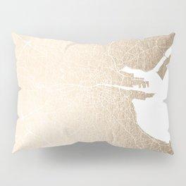 Dublin Street Map Gold and White II Pillow Sham