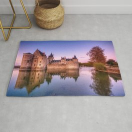 Sully sur Loire at sunrise, Loire valley, France. Rug