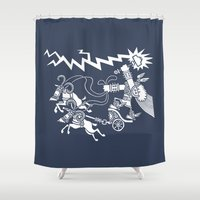 thor Shower Curtains featuring Thor by TehStr4ngeOnes