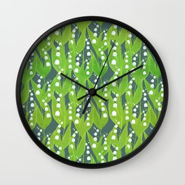 Lily of the Valley Pattern Wall Clock