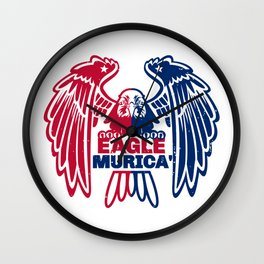 Eagle Murica Wall Clock
