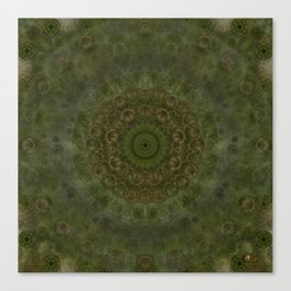 """Autumn mandala"" (Green-Grey Pattern) Canvas Print"