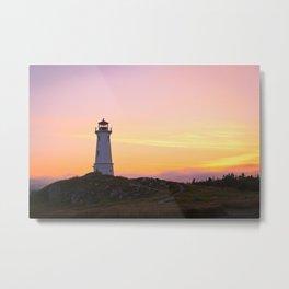 Louisbourg Lighthouse Metal Print