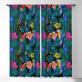 Tropical Birds and Botanicals Blackout Curtain